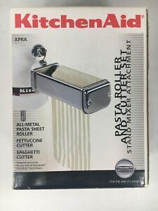 3-Piece Pasta Roller & Cutter Set (KPRA) KitchenAid Mixer Attachment - NIB