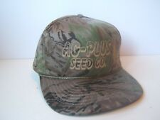 Ag Plus Seed Co Camo Hat Vintage Camouflage Snapback Baseball Cap