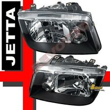 1999-2005 VW Jetta IV MK4 OE Style Black Headlights Lamps w/ Fog RH & LH