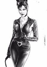 DC Comics Sexy CATWOMAN Original Art BATMAN GOTHAM BODYSUIT JOKER HARLEY IVY