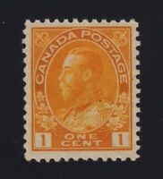Canada Sc #105 (1922) 1c orange-yellow Admiral Die I Wet Mint VF NH