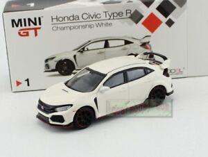 1:64 TSM MINI GT Honda CIVIC TYPE R FK8 White RHD MGT00001-R Diecast