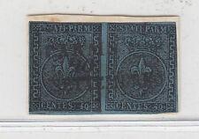 PARMA 1852 40 CENTESIMI COPPIA SU FRAMMENTO USATA CERTFICATA DIENA