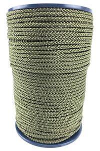 6mm Olive Braided Polypropylene Rope x 50 Metres, Paracord Drawstring Camping