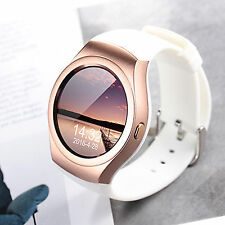 Women Ladies Bluetooth Smart Watch Heart Rate Monitor SIM TF Card Slot Bracelet