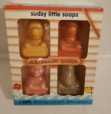 Johnson's Pooh & Pals Sudsy Little Soaps SS Hunny Queen 4 Bars Box