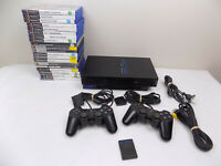 Ps2 Playstation 2 Fat Bundle Console + 2x Controllers + 20x Very Popular Games