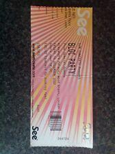 Bloc Party - Alexandra Palace Concert Ticket Stub - 14th December 2007