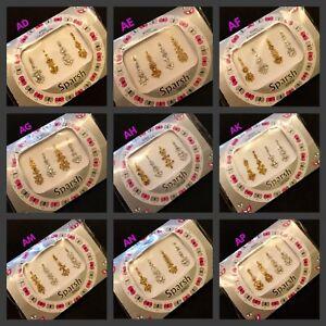 BINDI Multi Pack Long Indian BRIDAL CRYSTAL Gem TIKKA Bollywood Festival BINDIS