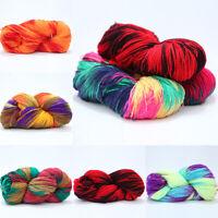 50g Gradient Colorful Hand Knitting Yarn Soft Crochet Cotton Wool Yarn DIY Craft