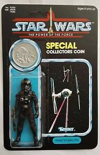 MINT IMPERIAL TIE FIGHTER PILOT ON UNPRODUCED POWER OF THE FORCE RETRO CARDBACK