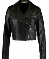 Versace Jeans women's synthetic leather biker jacket