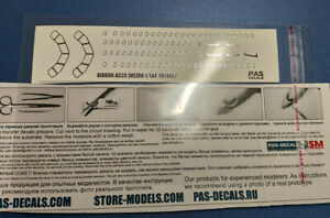 1/144 PAS-DECALS ZVEZDA Decal -Silver edging of the  glazing  Airbus A-320