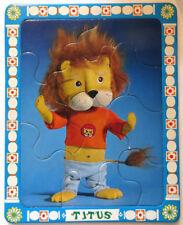 """Puzzles ORTF """"Titus le petit lion"""" et """"Melchior""""- Cavahel Vintage"""