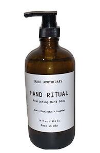 New! Muse Apothecary Hand Ritual Aloe+Eucalyptus+Lavender Hand Soap~16 oz