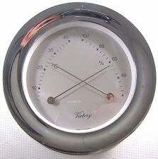 "Victory BA1139C 4"" Chrome Thermometer / Hygrometer ""America"" 135-932"