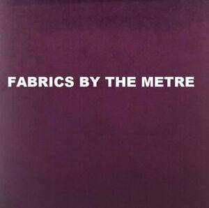 AMETHYST Plush Plain FIRE RETARDANT Velvet Upholstery / Curtain Fabric