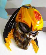 Black Yellow Bumble Bee motif predator helmet motorcycle dot approved
