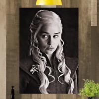 Daenerys Targaryen Game of Thrones Framed Canvas Print Art Picture