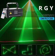 Remote DMX Music RGY Laser Stage Scanner DJ Dance Gig Party Stage Light Show