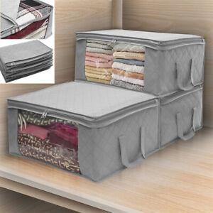 3er Aufbewahrungstasche Faltbare Kleideraufbewahrung für Bettdecken Kleidung DE