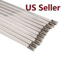 "10 PCS Self-Locking Stainless Steel Cable Ties Exhaust Wrap Coated Zip Tie 11.8"""