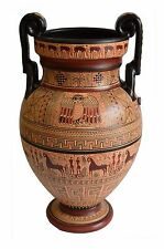 Geometric Period Volute Krater Amphora Vase - National Museum Of Greece Replica