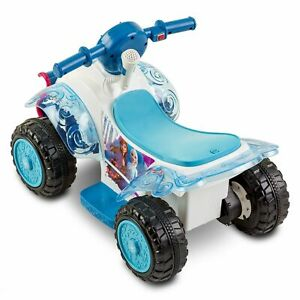 Frozen 2 6V Sing-Along Quad Powered Ride-On - White  New In Box w/ FREE Shipping
