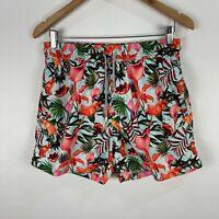 Makastia Mens Swim Shorts Large Slim Multicoloured Floral Elastic Waist