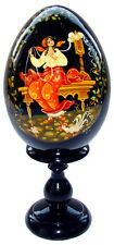 La fileuse - Oeuf en bois, Artisanat Russe Oeuf Collection Russe en Bois cadeau