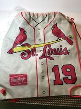 Jay Beige 19 ST. LOUIS CARDINALS DRAWSTRING BACKPACKS 2-SIDED JERSEY