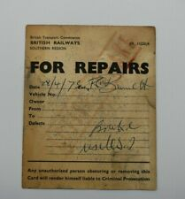 British Railway Southern Region Wagon Label FOR REPAIRS