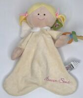 Baby Ganz Heaven Sent Angel Pacifier Cozy Blanket Plush Lovey Ivory Blond Girl
