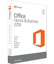 Microsoft Office Home and Business for Mac 2016 English Medialess P2