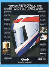 """MOTOSPRINT989-PUBBLICITA'/ADVERTISING-1989- ARAI HELMET CASCO """"GIGA"""""""