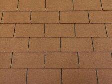 Dachschindeln 30 m? Rechteck Form Braun (10 Pakete) Schindeln Dachpappe