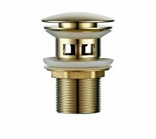 Bathroom Drain Water Pipe Threaded Perforated Sink Plug Polished Stainless Steel