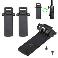 2 Pcs Back Belt Clip Spare Part for Baofeng 2-way Radio UV5R 5RA  Walkie Talkie