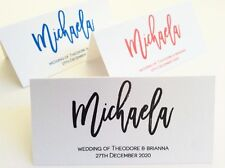 Wedding Name Custom Placecards Personalised Name Escort Place Cards Table Guest