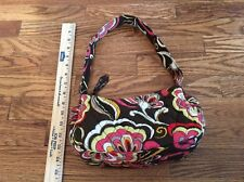 Vera Bradley Retired Puccini Handbag Purse Brown Floral
