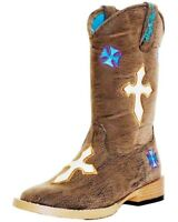 Blazin Roxx 4450802-11 Sierra Cowgirl Boot Square Toe Brown - Size 11