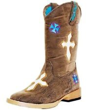 9f5964f1d5aa5e Girls  Blazin Roxx Sierra Cowgirl Boot Square Toe Kids Infant Toddler Youth  11y