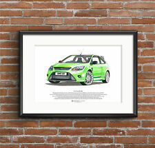 Ford Focus RS Mk2 ART POSTER A3 size