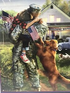 American soldier welcome Home Puzzle 1000 Pieces A Warm Welcome New B05