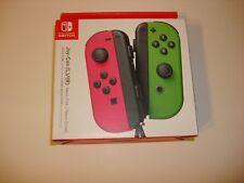 OEM Nintendo Switch Joy-Con Neon Pink/Neon Green Gamepad NEW Joycon