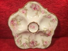 Oyster Plate Antique Limoges Oyster Plate Roses & Flowers c.1900-1914, op483