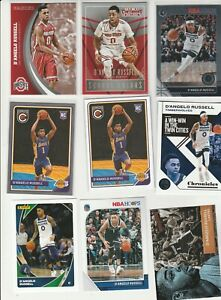 D'ANGELO RUSSELL LOT (20) DIFFERENT W/ 4 2015-16 ROOKIES RC COMPLETE SILVER
