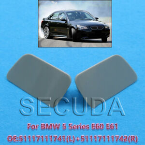 Left + Right Side Headlight Washer Cover Fit BMW 5-Series E60 E61 2004-2010