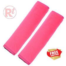 2pcs Velvet Car Safety Seat Belt Comfortable Shoulder Pads Covers Pink Color