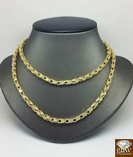 Necklace 28 Inch 4mm, Real Gold Genuine 10K Yellow Gold Byzantine chino Chain